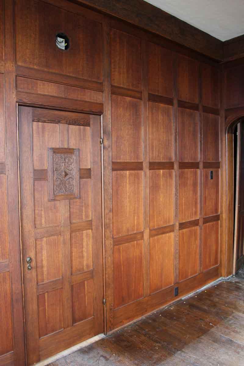 Solid Oak Arts  Crafts Wood Paneled Room  Olde Good Things