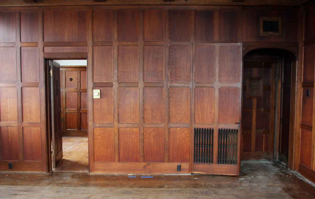 Arts  Crafts Recessed Multi Oak Paneled Room  Olde Good