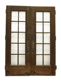 Double French Doors with Large Bronze Pulls & Kick Plates ...