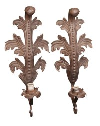 Pair of Art Nouveau Wrought Iron Sconces   Olde Good Things
