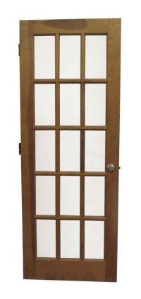 15 Lite French Natural Stain Door | Olde Good Things
