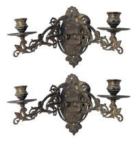 Art Nouveau Brass Sconces with Adjustable Arms   Olde Good ...