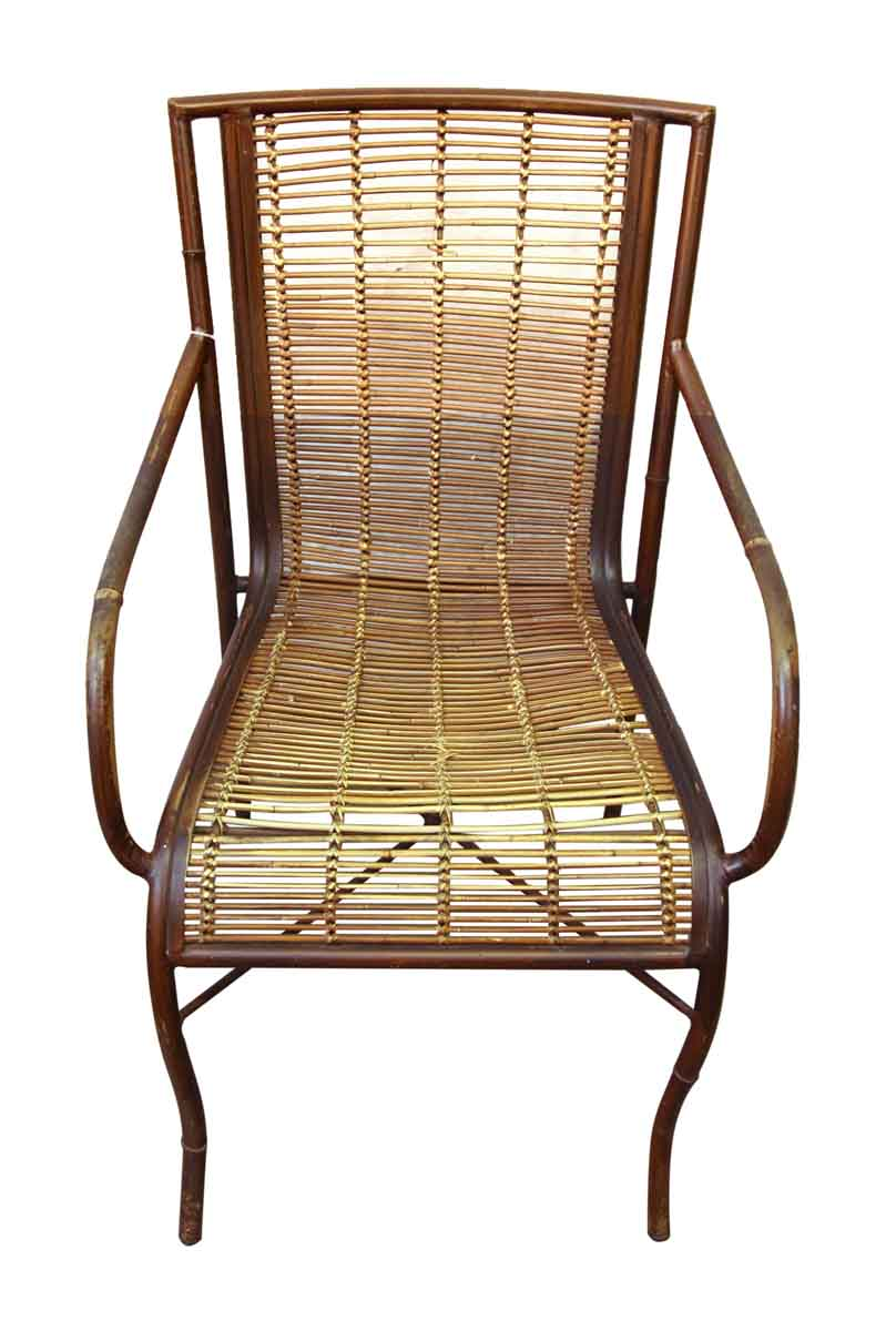 Mid Century Rattan Chair  Olde Good Things