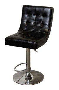 Black Swivel Chair with Chrome Base | Olde Good Things