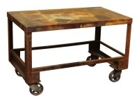 Industrial Rolling Cart with Rust Patina | Olde Good Things
