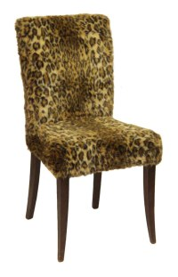 Fuzzy Leopard Chair | Olde Good Things