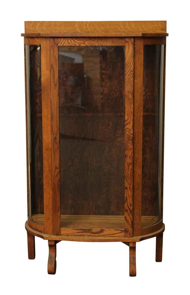 Refinished Ebert Oak China Cabinet  Olde Good Things