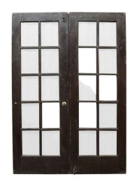 Pair of 10 Glass Panel French Doors | Olde Good Things