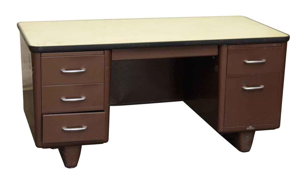 Metal All Steel Office Desk  Olde Good Things