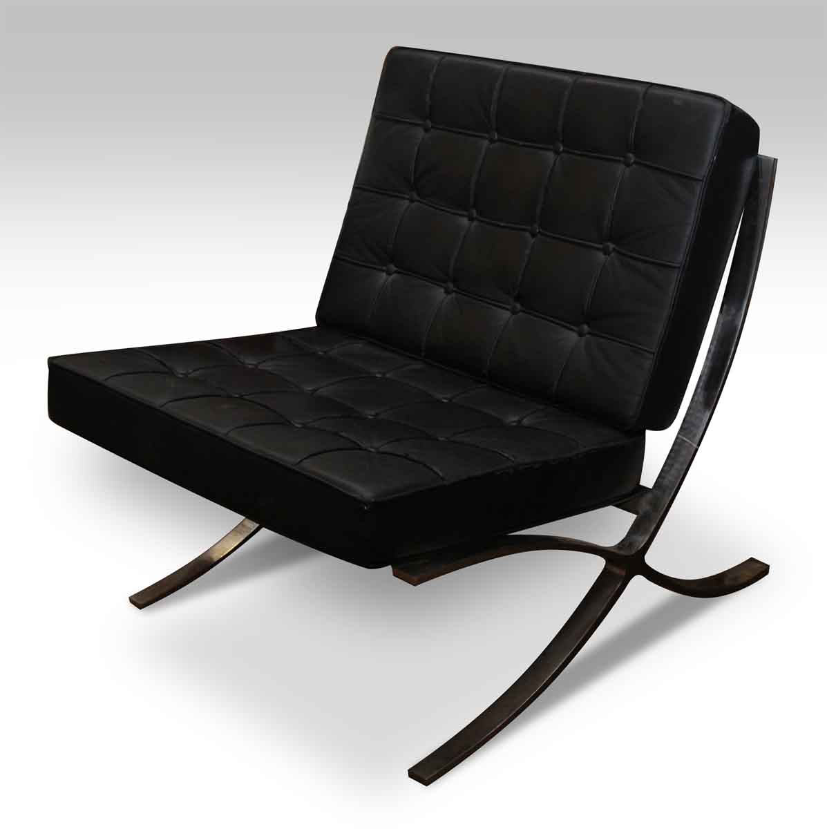 barcelona chair leather slip covered dining chairs black style olde good things