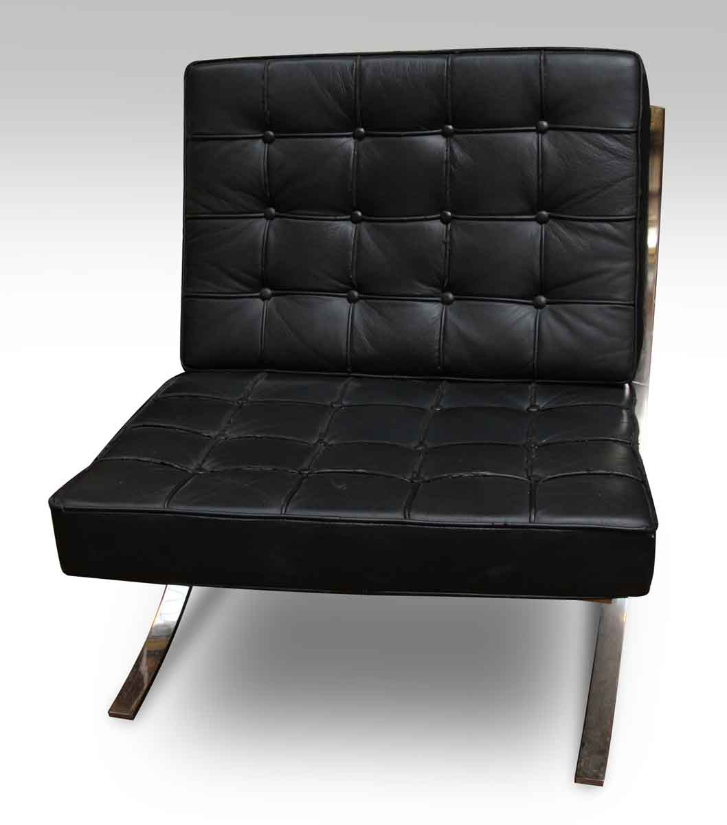 barcelona chair leather desk mats for laminate floors black style olde good things