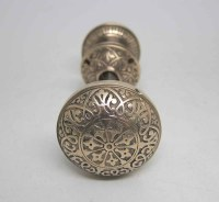 Decorative Bronze Seven Fold Door Knob Set | Olde Good Things