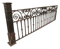 Wrought Iron Balcony Rail | Olde Good Things