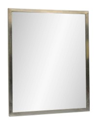Mirror with Brushed Steel Frame