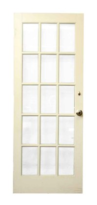 White Wood 15 Glass Panel Door | Olde Good Things