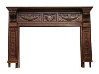 Heavily Carved Ornate Wood Mantel | Olde Good Things