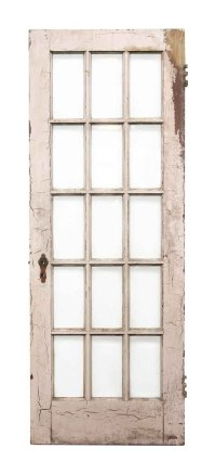 Beveled 15 Glass Panel Wooden Door | Olde Good Things