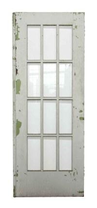 12 Beveled Glass Panel White Wooden Door | Olde Good Things