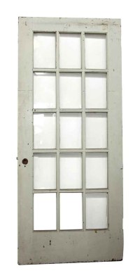 15 Beveled Glass Panel White Door | Olde Good Things
