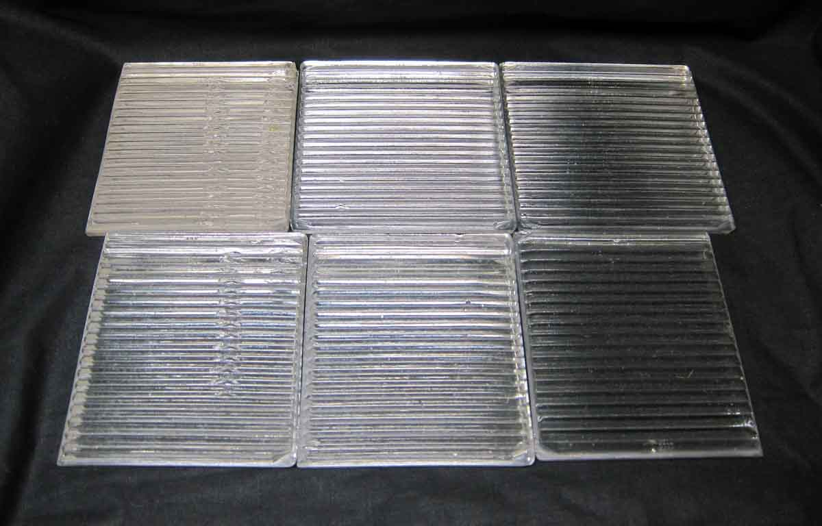 White Ribbed Clear Glass Luxfer Tile  Olde Good Things