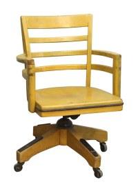 Wood Swivel Chair with Wheels | Olde Good Things