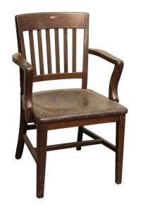 Dark Wood Banker Chair   Olde Good Things