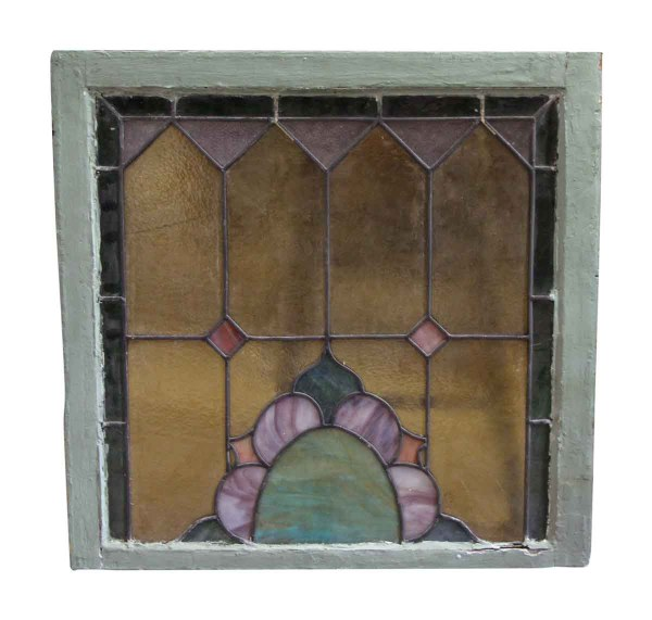 Wood Frame Window Stained Glass