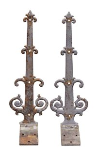 Pair of Iron Decorative Strap Hinges | Olde Good Things