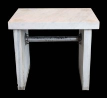 Thick Marble Slab Table Olde Good