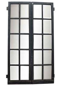 Pair of 10 Beveled Glass Panel Wood Doors | Olde Good Things