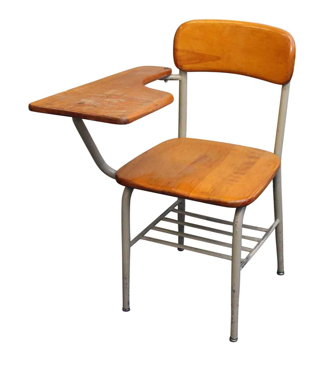 Salvaged School Chairs with Attached Desk  Olde Good Things