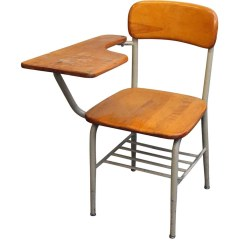 Chair Attached Table Rocking Modern Salvaged School Chairs With Desk Olde Good Things