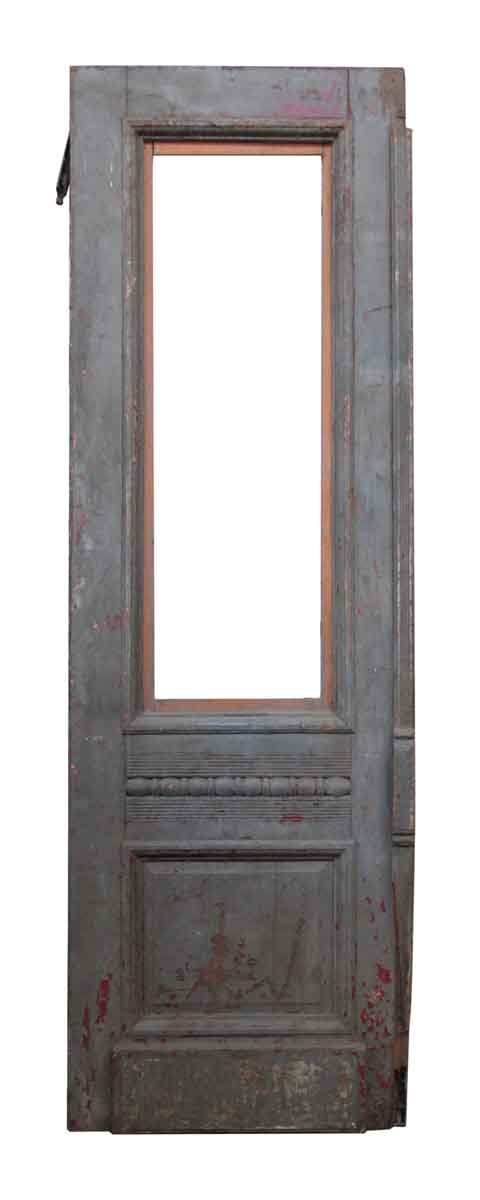 Wooden Door with Decorative Molding