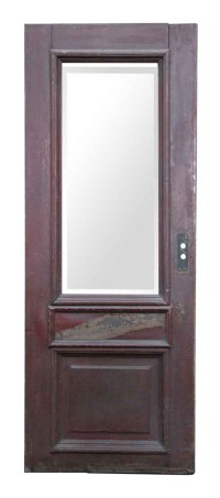 Wooden Door with Large Beveled Glass Panel | Olde Good Things