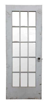 15 Wavy Glass Panel Wood Door | Olde Good Things