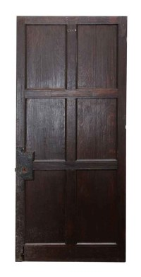 Six Panel Dark Wooden Door