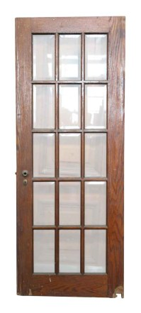 15 Beveled Glass Panel Wood Door | Olde Good Things