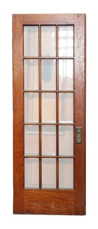 15 Vertical Glass Panel Beveled Door | Olde Good Things