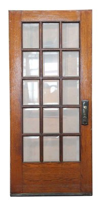 15 Beveled Glass Panel Wooden Door | Olde Good Things