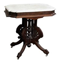 Marble Top Table with Wheels | Olde Good Things