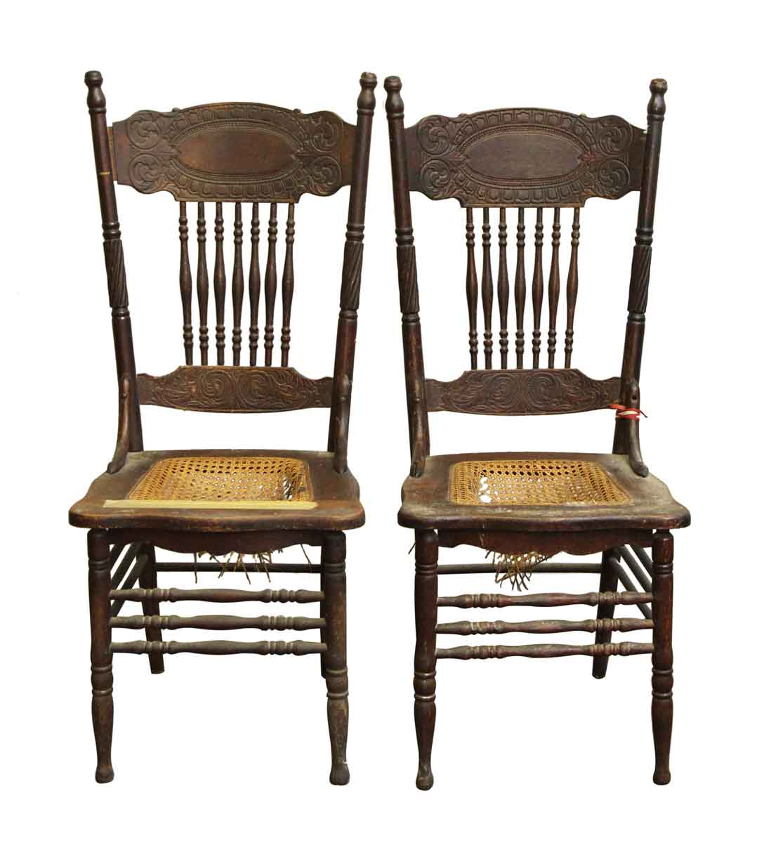 vintage wooden chairs chair repair shop pair of olde good things