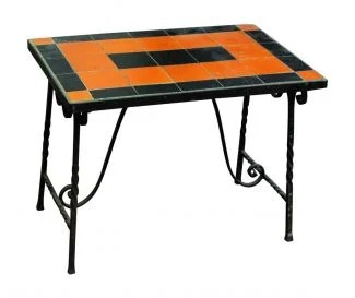 metal patio chair back covers amazon antique furniture olde good things orange black table