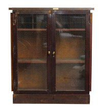 Metal Cabinet with Chicken Wire Glass Front   Olde Good Things