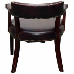 Studded Dining Room Chairs Arm Chair Walmart Set Of Six Burgundy Leather Olde Good Things