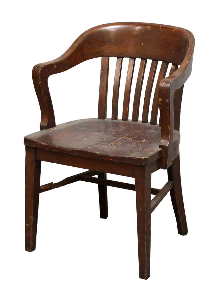 Wooden Bankers Chair Antique Bankers Chair
