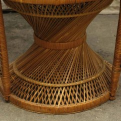 Fan Back Wicker Chair Outdoor Dining Chairs White Peacock Olde Good Things