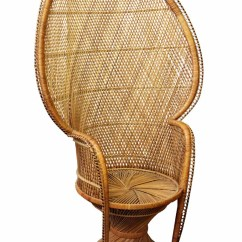 Fan Back Wicker Chair Cloth Covers Home Peacock Olde Good Things