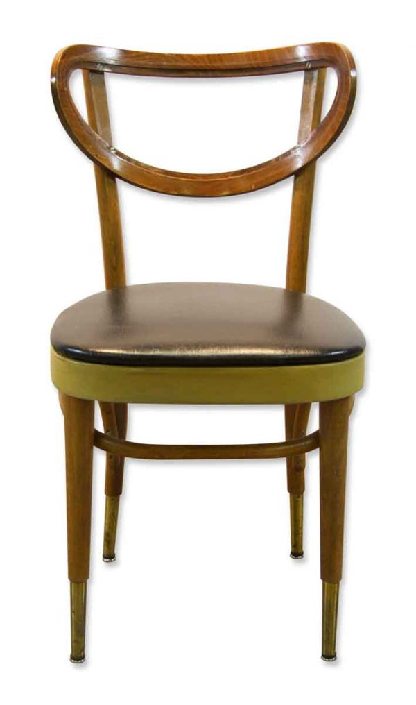 bentwood dining chair wheelchair invention with blue vinyl seat olde good things