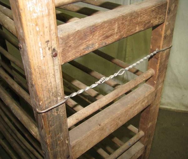 Wooden Shoe Rack Wheels Olde Good