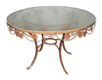 Wrought Iron Patio Table with Glass Top | Olde Good Things